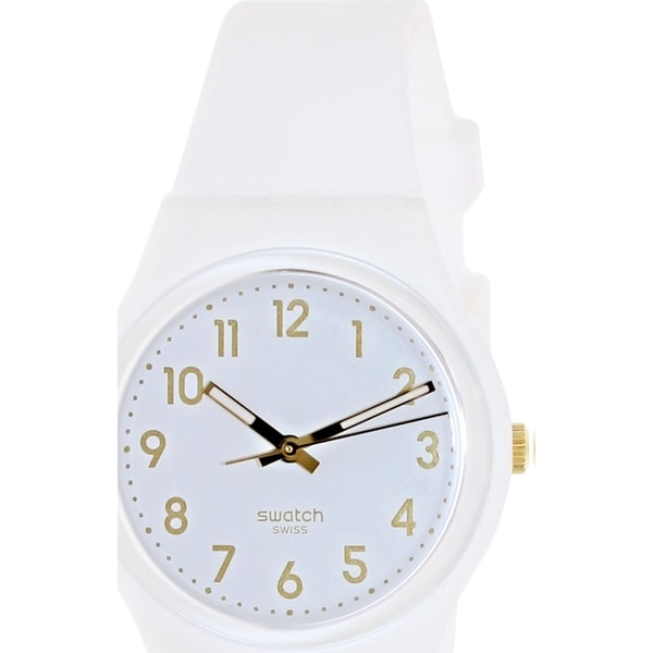 Swatch Men's Originals GW164 White Silicone Swiss Quartz Watch