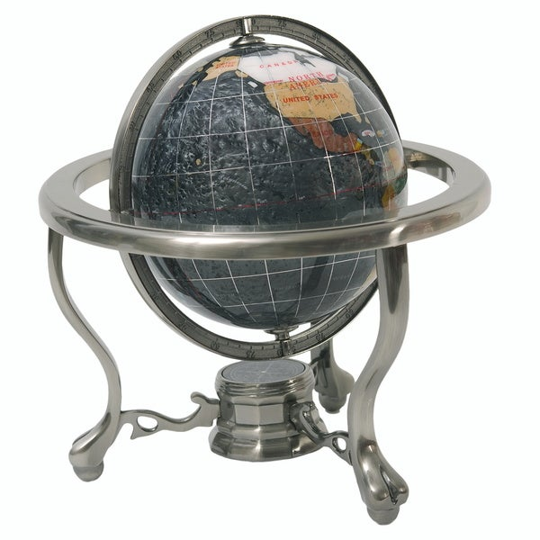 Onyx Globe with 3-legged Pewter Stand (150mm)