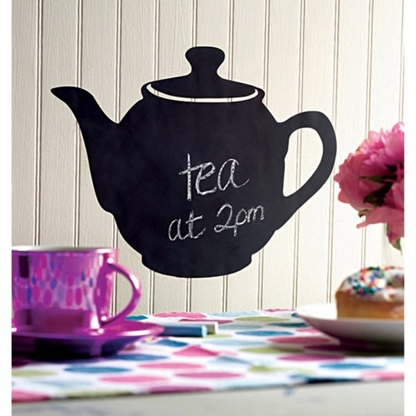Wallies Teapot Chalkboard Accent