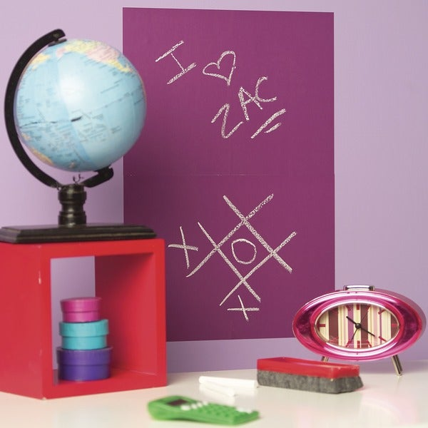 Wallies Purple 2-Sheet Chalkboard