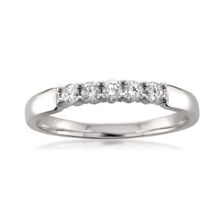 18k White Gold 1/4ct TDW Round-Cut Diamond Wedding Band (F-G, VS1-VS2)