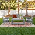 4-piece Acacia Wood Patio Conversation Set