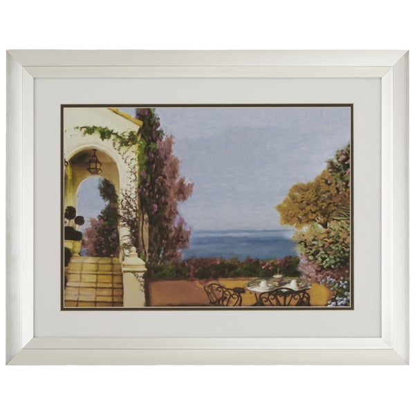 Coffee in Paradise Giclee Print Framed with Glass Wall Art