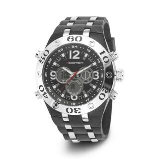 Regimen Men's RW1041 C9 Black Rubber Analog/ Digital Chronograph Watch
