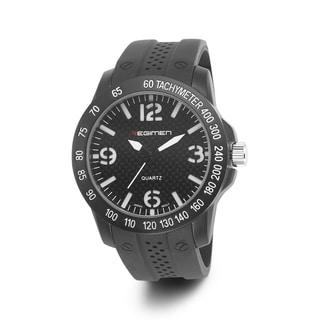 Regimen Men's RW1010 C6 Black Rubber Watch