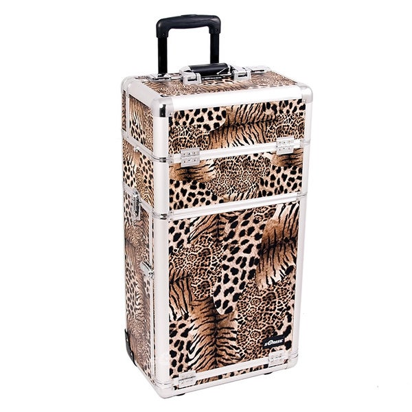 Sunrise Leopard Rolling Makeup Case