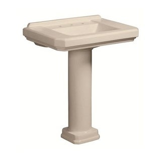 Danze Cirtangular Pedestal Biscuit Porcelain Bathroom Sink