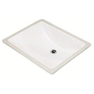 Danze Cobalt Undermount White Porcelain Bathroom Sink