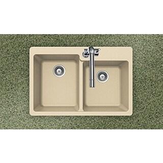 Houzer Cristaliteplus Drop-in Sand Granite Kitchen Sink