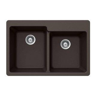 Houzer Cristaliteplus Drop-in Mocha Granite Kitchen Sink
