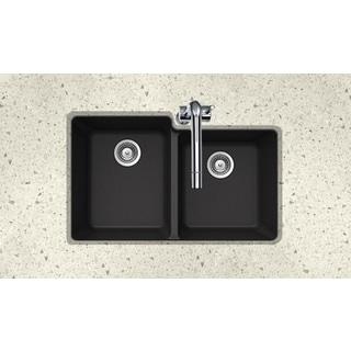 Houzer Cristaliteplus Undermount Nero Granite Kitchen Sink