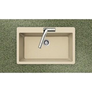 Houzer Cristadur Drop-in Sand Granite Kitchen Sink
