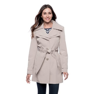 London Fog Women's Single Breasted Belted Trench
