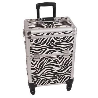 Sunrise White Zebra Rolling Makeup Case