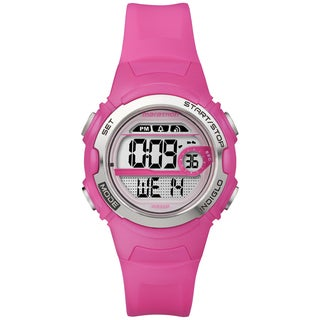 Marathon by Timex Women's Digital Mid-size Bright Pink Watch