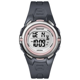 Timex T5K360M6 Women's Marathon Digital Mid-size Dark Grey/ Pink Watch