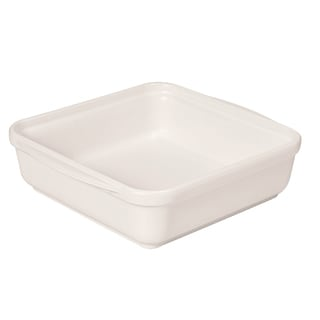 French Home 9.5-inch or 8-inch Egg White Square Baking Dish