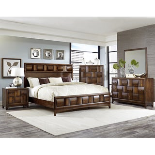 Darian Classic Medium Walnut 5-piece Platform Bedroom Set