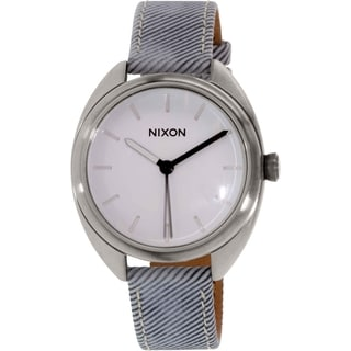 Nixon Women's Wit A318850 Silver Leather Quartz Watch