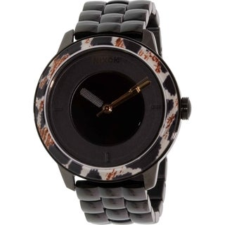 Nixon Women's Divvy A3451153 Black Stainless-Steel Quartz Watch