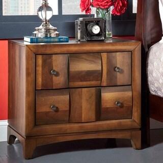 Darian Classic Medium Walnut 2-drawer End Table