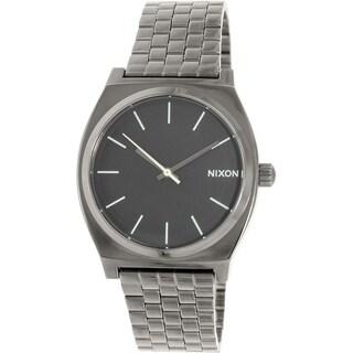 Nixon Men's Time Teller A0451885 Gunmetal Stainless-Steel Quartz Watch