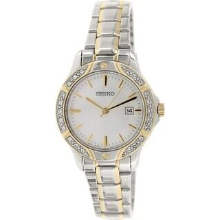 Seiko Women's SUR876 Silver Stainless Steel Quartz Watch