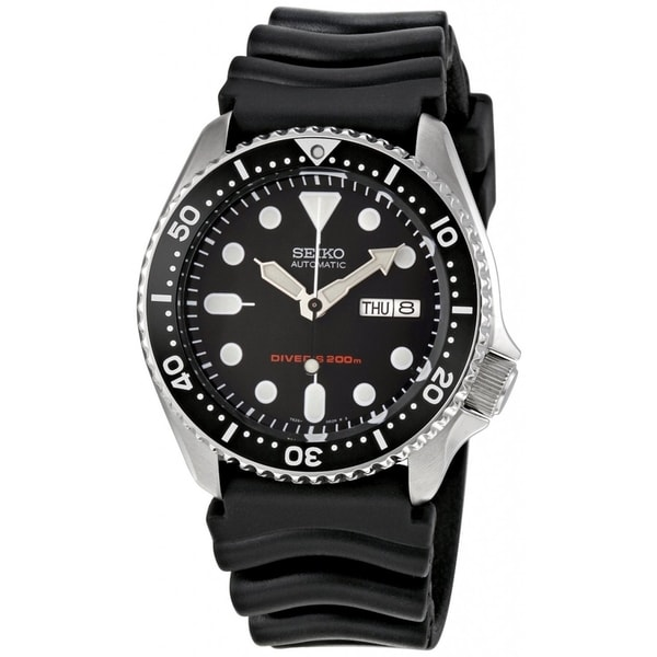 Seiko Men's Automatic SKX007K Black Rubber Automatic Watch