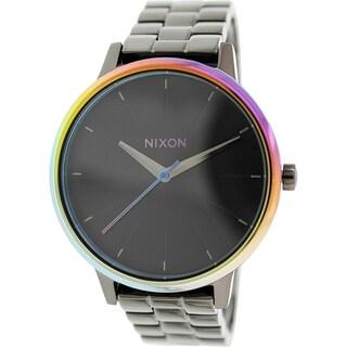Nixon Women's Kensington A0991698 Charcoal Grey Stainless Steel Quartz Watch