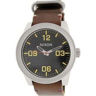 Nixon Men's Corporal A243019 Brown Leather Quartz Watch