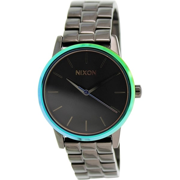 Nixon Women's Kensington A3611698 Gunmetal Stainless Steel Quartz Watch
