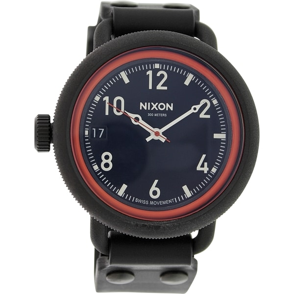Nixon Men's October A488760 Black Rubber Quartz Watch