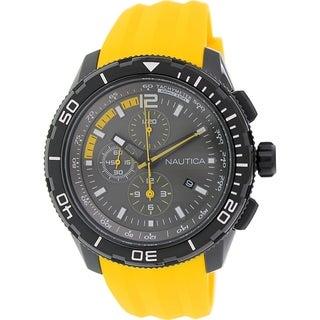Nautica Men's Nst 101 N19629G Yellow Silicone Quartz Watch