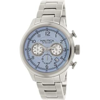 Nautica Men's Nct 16 N19631G Stainless Steel Quartz Watch