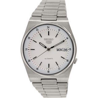 Seiko Men's 5 Automatic SNXM17K Silver Stainless-Steel Automatic Watch