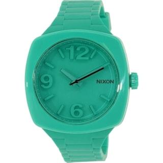 Nixon Women's Dial A265314 Green Rubber Quartz Watch