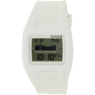 Nixon Men's Lodown A289126 White Rubber Quartz Watch