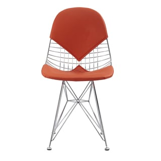 Otto Eiffel Orange Vegan Leather Chair (Set of Two)