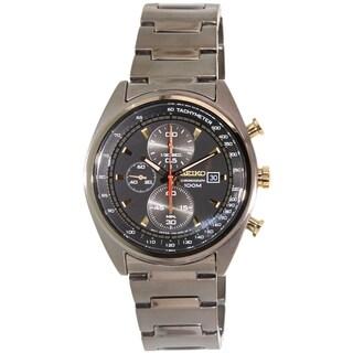Seiko Men's SNDF91 Gunmetal Stainless Steel Quartz Watch