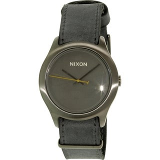 Nixon Women's Mod A4281893 Grey Leather Quartz Watch