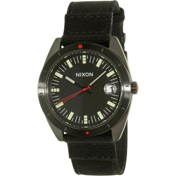 Nixon Men's Rover A355001 Black Leather Quartz Watch