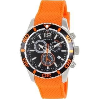 Nautica Men's NST N15101G Silver Silicone Swiss Quartz Watch