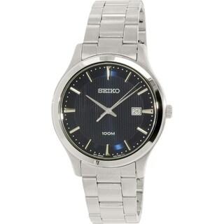 Seiko Men's SUR049 Silver Stainless-Steel Quartz Watch