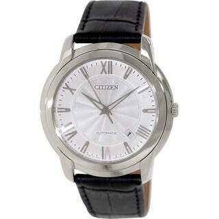 Citizen Men's NB0030-01A Black Leather Automatic Watch