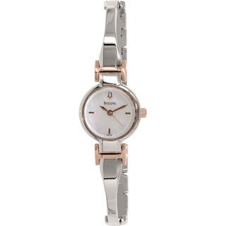 Bulova Women's 98L156 Stainless Steel Quartz Watch