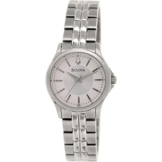 Bulova Women's 96L152 Metallic Silver Stainless-Steel Quartz Watch