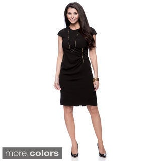 Jones New York Missy Zipper-waist Wrap Dress