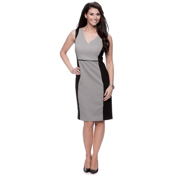Jones New York Missy V-Neck Sheath Sleeveless Dress