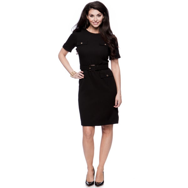 Jones New York Missy Belted Sheath Dress