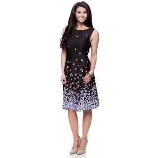 Jones New York Missy Boatneck Dress with Pleats